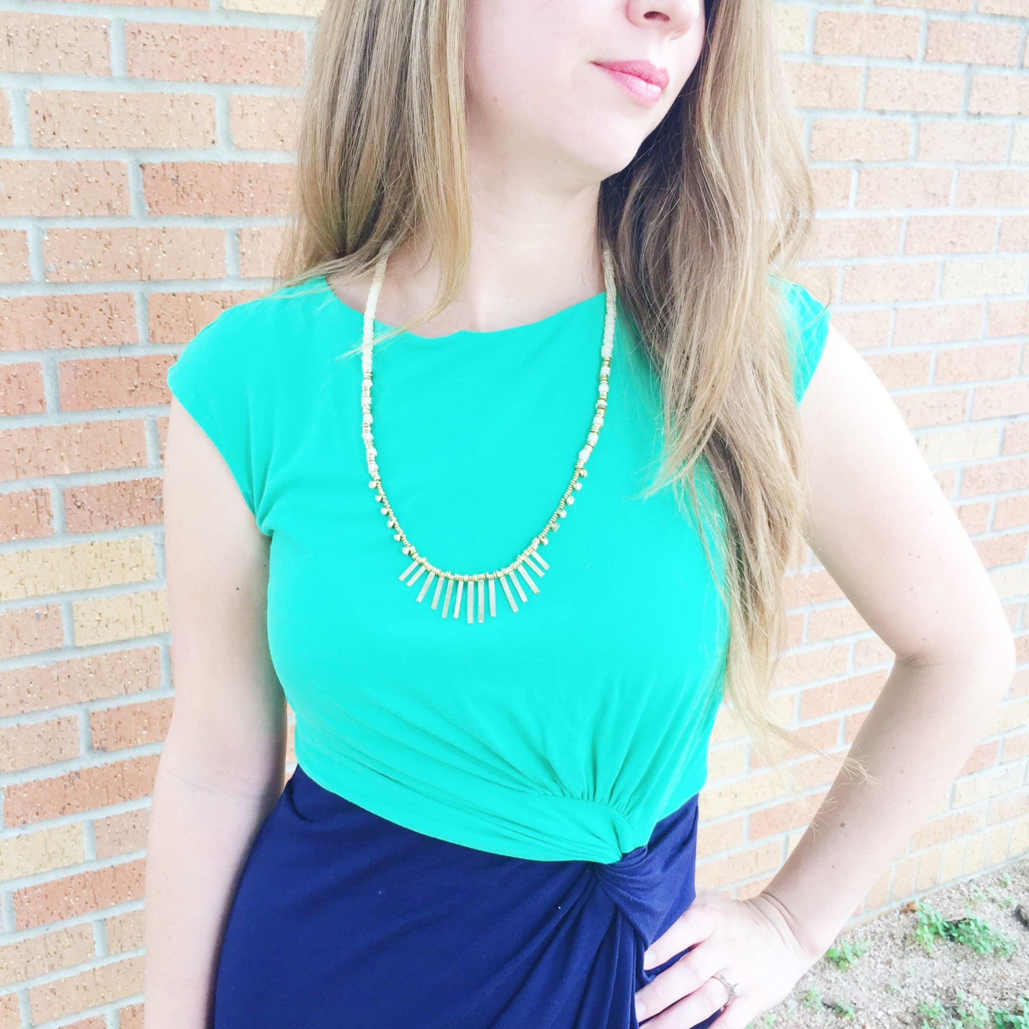 Noonday Sunburst Necklace Styled